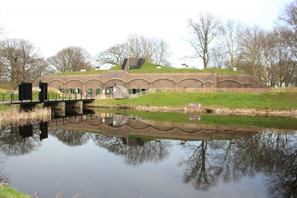 Ingang Fort Ruigenhoek aan de Ruigenhoekse dijk