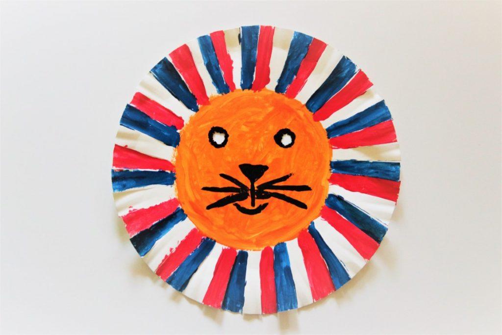 Koningsdag knutselen - Leeuwenmasker Rood-wit-blauw Oranje maken