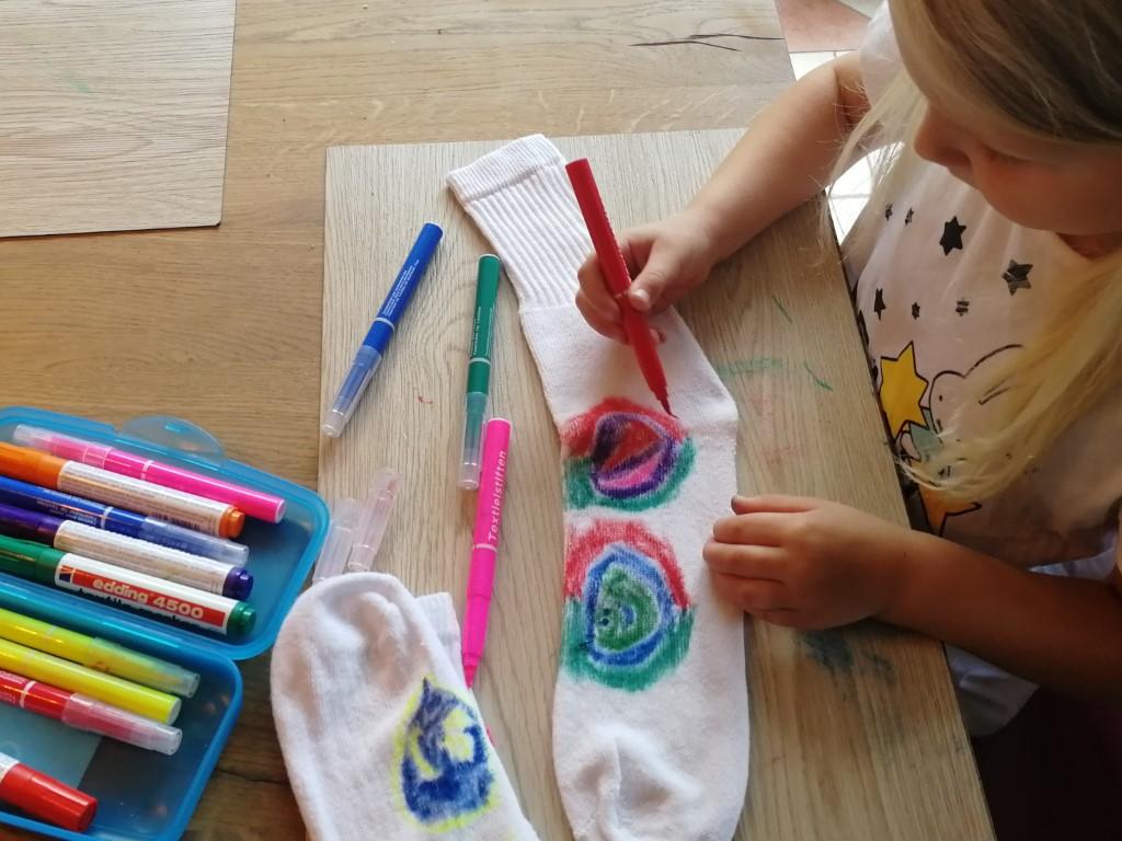 Vaderdag 2020 - Happy Socks Sokken knutselen textielstiften