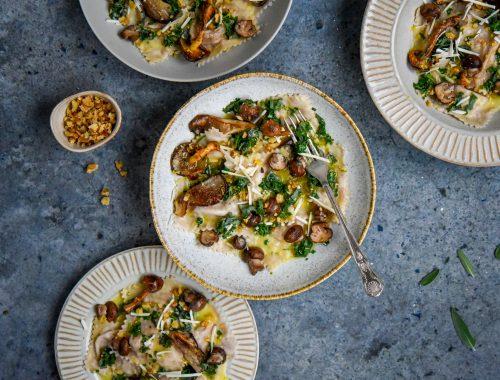 Vegan ravioli recept